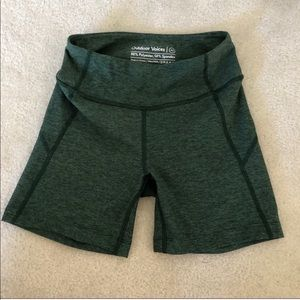 Outdoor Voices Green Warm Up Shorts